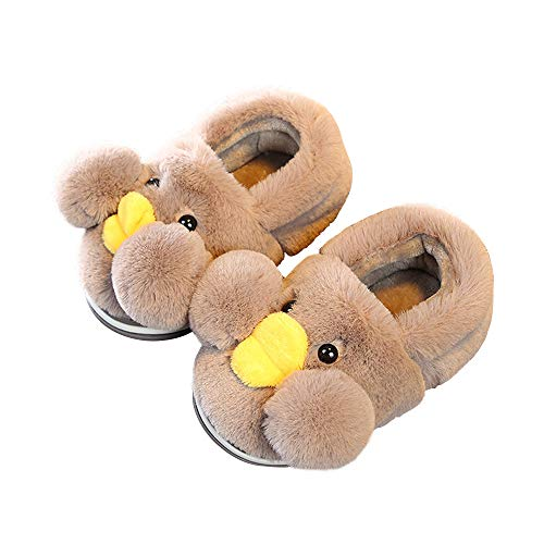 Unisex coffee Duck Boys Girls Slippers Cute Toddler for Doggy Kids FFzr4