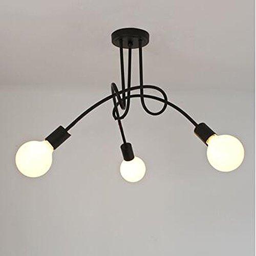 DPG Lighting Vintage Lámparas de techo Iluminación de techo Negro Personalidad Creativa Lámparas de techo Lámparas...