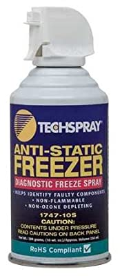 Techspray 1747-10S 10 oz. Envi-Ro-Tech? Anti-Static Freeze Spray
