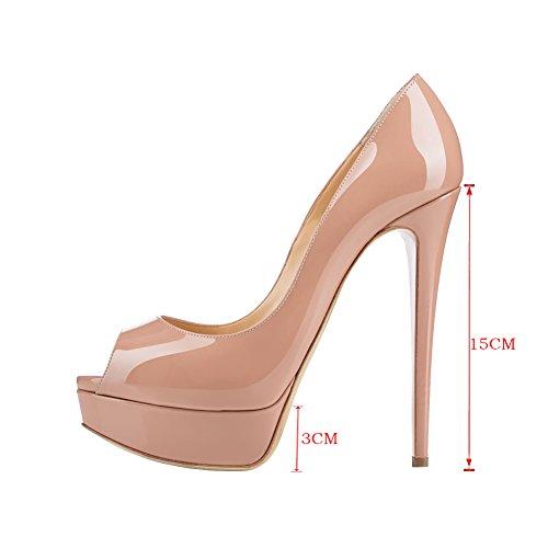 MERUMOTE - Zapatos de tacón de aguja mujer, color multicolor, talla 35 EU