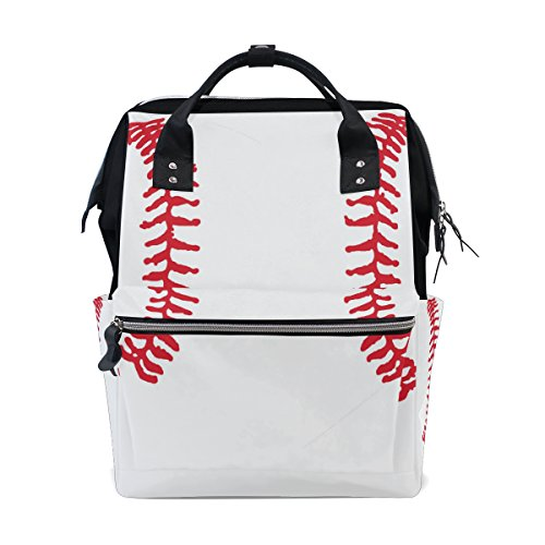 MaMacool Mummy bag Diaper Tote Bags Larger Capacity Baby Nappy Bag Fashion Heart Shaped Baseball Mummy Backpack ()