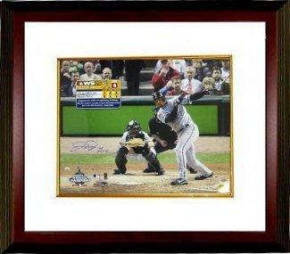 Dye Jermaine Framed (Jermaine Dye Signed Autograph Chicago White Sox 16x20 Photo 05 WS MVP Custom Framed - Authentic MLB Photos)