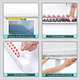 6 Pack Temporary Window Shades Cordless Blinds