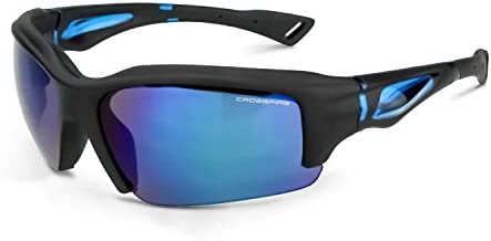 Crossfire Eyewear 25228 Alpine Safety Glasses with Black Matte Frame and Blue Mirror Lens