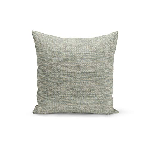 CELYCASY Textured Pillow Cover Blue and Beige Basketweave Pillow Cover Over 20 Different Pillow Cover Sizes Zipper Closure Boulder Spa