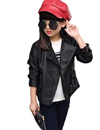 yjgwl-girls-fashion-diagonal-zipper-jacket-leather-side-pockets-outerwear-jacket-black160