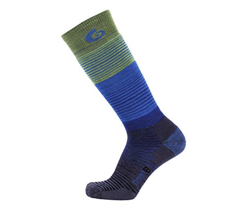 Point6 Ski Blend Medium OTC Socks, Lime, Large (Ski Point6)