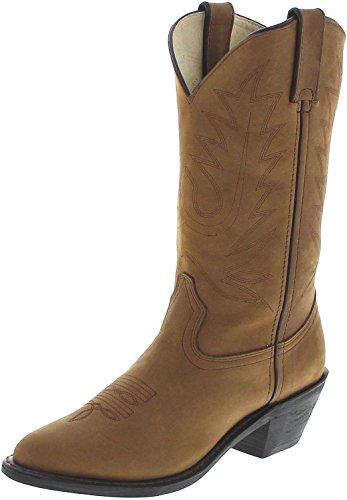 FB Fashion Boots Women's Rd4112 Cowboy Boots Wild Tan
