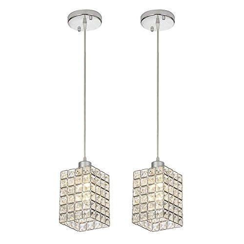 Chrome And Crystal Pendant Lighting in US - 6