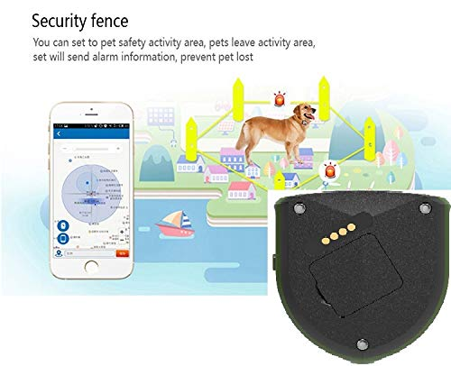 Pet (Elderly&Child) Tracker Petfinder GPS Tracking Unit Dogs Cats Horses Remote Activity Tracking Collar Tag Locator Waterproof -Allows You to Call Talk & Comfort Them. Freedom & Peace of Mind ()