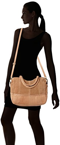 PIECES Damen Pccameo Leather Bag Schultertasche, 15x28x33 cm Braun (Nature)