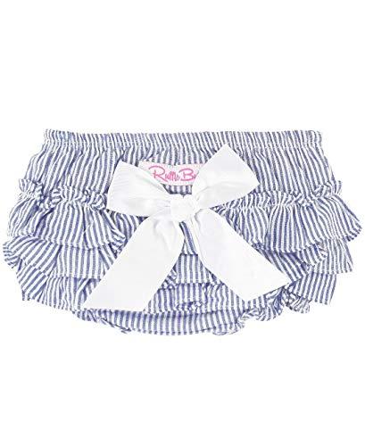RuffleButts Baby/Toddler Girls Baby Blue Seersucker - Seersucker Blue Baby