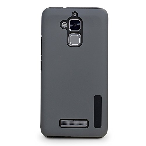 Asus ZenFone3 Max ZC520TL Phone Case, TOP K Hybrid Heavy Duty Slim Armor Hard PC + Soft TPU Shockproof Protection Defender Case for Asus ZenFone 3 Max 5.2 Inch (Gray)