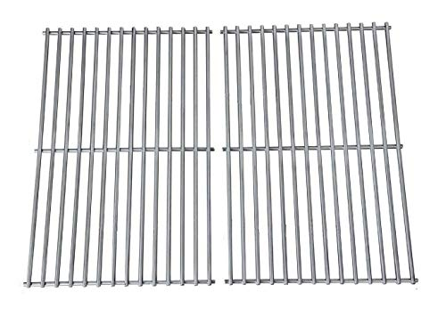 - Hongso Grill Grates, Durable 304 Stainless Steel Solid Rod, 19 1/4 inch Cooking Grid Grates Replacement for Turbo, Charmglow Gas Grill (2 Pieces, SCS612)