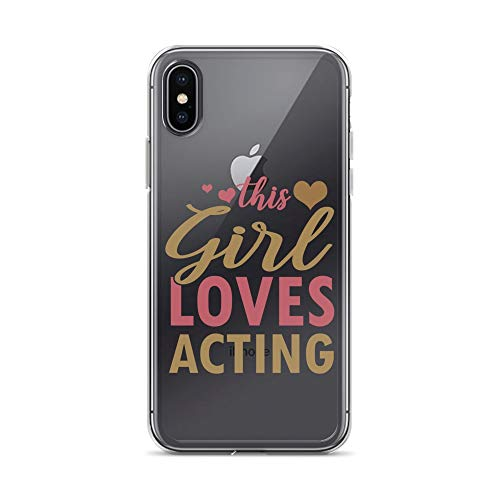 iPhone X/XS Pure Clear Case Crystal Clear Cases Cover Acting Actress Present Transparent]()