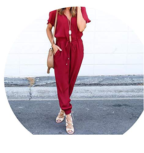 Fashion Female Summer Clothing Women Chiffon Short Sleeve Playsuit Bodycon Party Jumpsuit Romper -