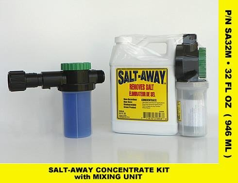 - Salt Away SA32M Concentrate Kit with Mixing Unit, Salt Removing Cleanser, 32 Fl. Oz.