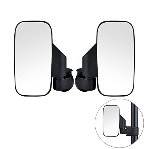 UTV Side View Mirror, Large Adjustable Wide Rear Clear View with Shatter-Proof Tempered Glass, Moveland UTV Off Road Accessories for Polaris RZR, Can-Am, Kawasaki, kubota, Yamaha, (Kawasaki Mule Utv)