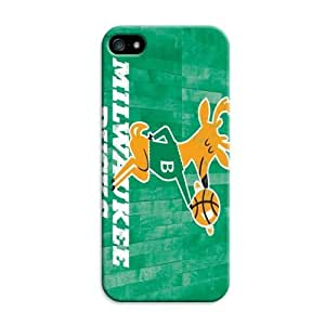 Lifelike Case For Iphone 5C Cover Case With Basketball Nba Hardwood Classics Color Print