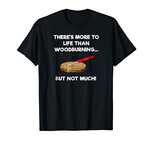 Woodburning Funny Shirt - Pyrography - (Basic Grey Mini Stamp)