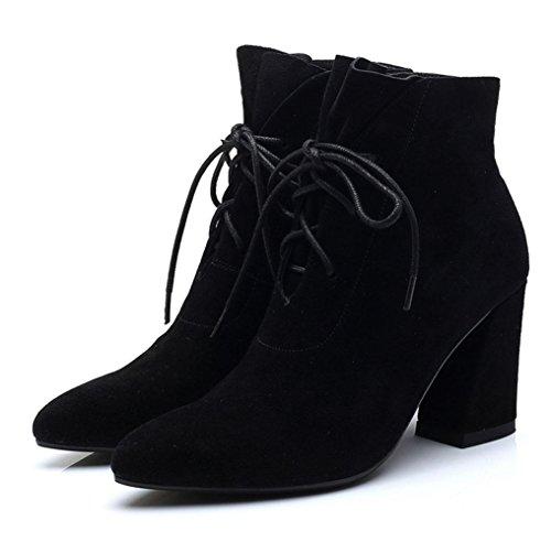 KUKI autumn and winter women's boots women's shoes single shoes high-heeled Martin boots cheap women boots , US5.5 / EU35 / UK3.5 / CN35