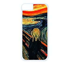 Edvard Munch's The Scream- Hard White Plastic Snap - On Case-Apple Iphone 5C Only - Great Quality!