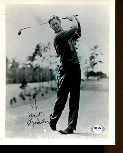 Byron Nelson Autographed Signed Photo 8x10 Autographed Pga Golf PSA/DNA Ag51225