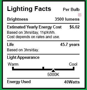 "Sunco Lighting 6 Pack Wraparound 5"" Wide LED Shop Light, 4 FT, Linkable, 40W=300W, 4000 LM, 5000K Daylight, Integrated LED, Prismatic Lens, Direct Wire, Flush Mount Fixture, Garage- ETL, Energy Star"