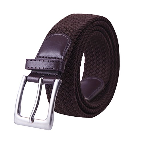 HDE Mens Canvas Stretch Belt Elastic Fabric Woven Braided Belts Metal Pin Buckle (Best Thing Since Slice Bread)