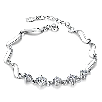 Amazon Com Korean Silver Jewelry Silver Bracelet Female Guard