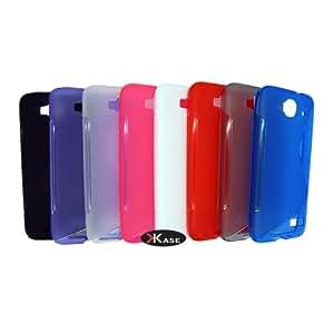 XKASE Soft S-Line TPU Case for Alcatel One Touch Idol Mini, OT-6012 (CLEAR WHITE)