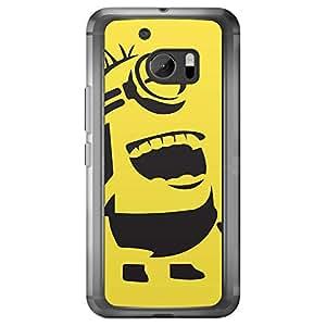 Loud Universe HTC M10 Minion B Printed Transparent Edge Case - Yellow