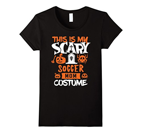 Soccer Mom Halloween Costumes (Womens Soccer Mom Scary Halloween Costume Party T-Shirt Large Black)