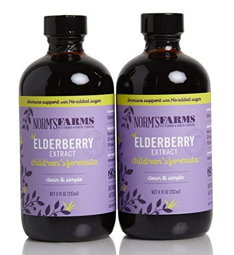 Norm s Farms Children s Formula Black Elderberry Extract Blueberry Juice 8 Ounce Bottle, Pack of 2