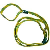 Cuerda para paseo y entrenamiento/castigo 1.4 mts. Para razas medianas y pequeñas (Amarillo con verde)