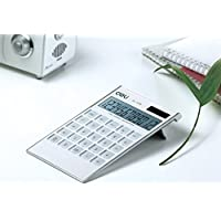 AUCH Elegant & Ultrathin 12 Digit Dual Powered Desktop Standard Calculator Handheld Calculator, LCD Display