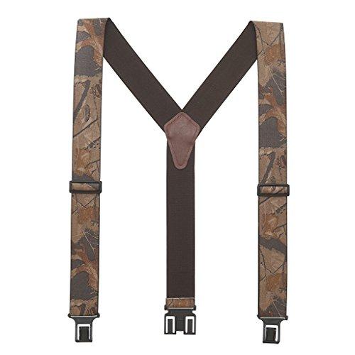 Perry Men's Realtree Hardwoods Camo Suspenders - Belt Clip