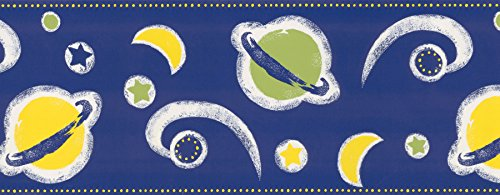 Brewster 499-95835  Space Border Wallpap - Blue Space Wallpaper Border Shopping Results