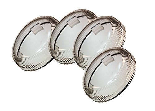 Set (4) OZ-USA Clear Turn Signal Lens Deuce-Style Snap On Replacement Lens for Harley 2002-2013 Street Glide FLHX (Turn Signals New Clear Lense)