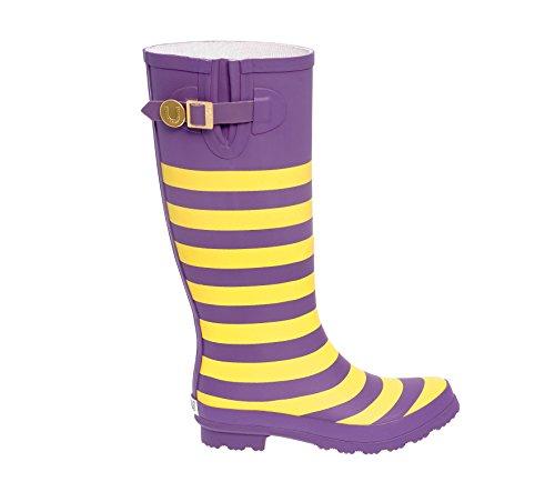 Purple and Gold Rainboots Lh V6KWkjxJ