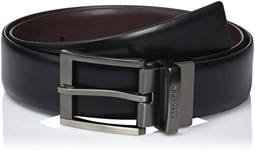 Kenneth Cole REACTION Men's Reversible Feather-edge Belt,black/brown,30