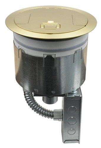 FSR SF8-CPT-JNC2-BRS Fire-Rated Poke-Thru Floor Box