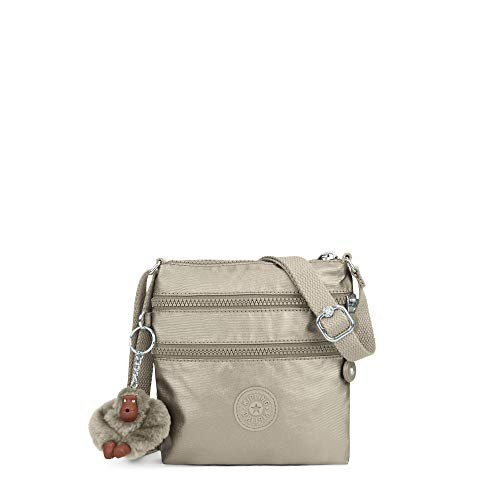 Kipling Alvar Extra Small Metallic Mini Bag One Size Metallic Pewter