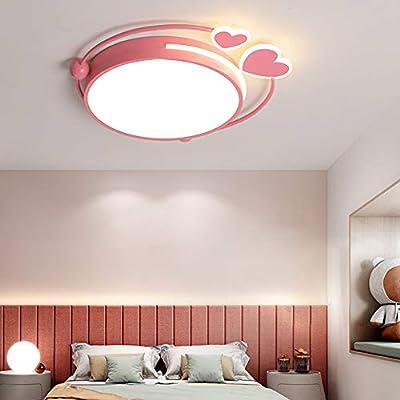 Lámpara De Techo LED Luz De Techo Para Dormitorio Niña Rosa Hierro ...
