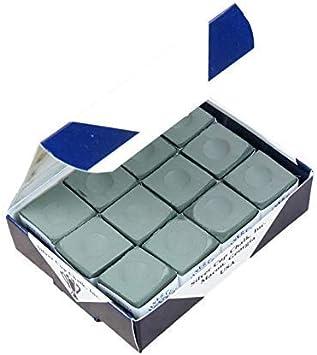 Silver Cup - Juego de tizas para tacos de billar (12 unidades ...