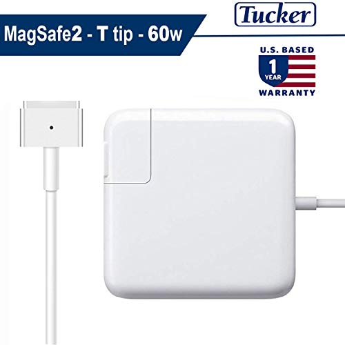 Price comparison product image Tucker Charger Compatible with MacBook Pro, 60W Magsafe 2 (T) Style Power Adapter Connector - Replacement Charger for Apple Mac Book Pro 13 inch/15 inch
