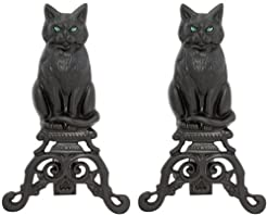 Uniflame, A-1251, Black Cast Iron Cat An...
