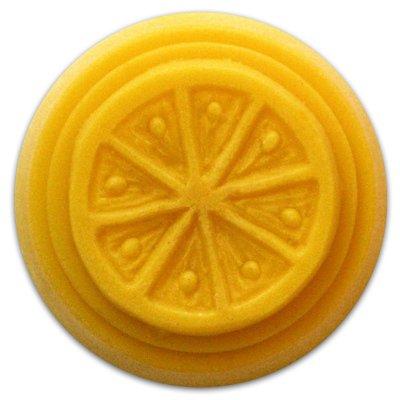 Milky Way Small Round Citrus Soap Mold - Makes 0.65 oz Bars.