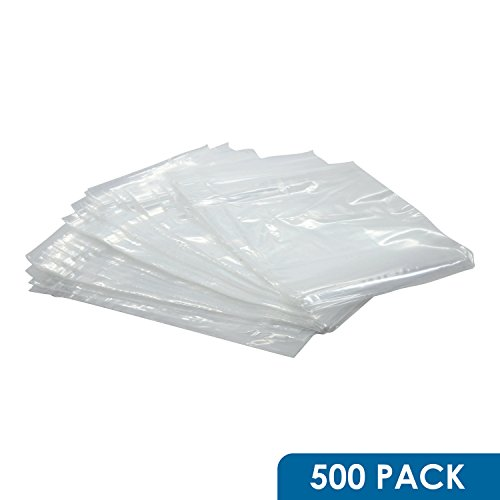 """Rok Hardware 500 Pack 5"""" x 7"""" Resealable 2Mil Plastic Clear Poly Zip Lock Food Safe Storage Bags"""