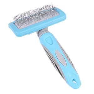 lovely LPET Professional Safe Cleaning Slicker Brush Grooming Comb Stainless Steel Bristle Brush Gently Removes Hairs for Large or Small Pets